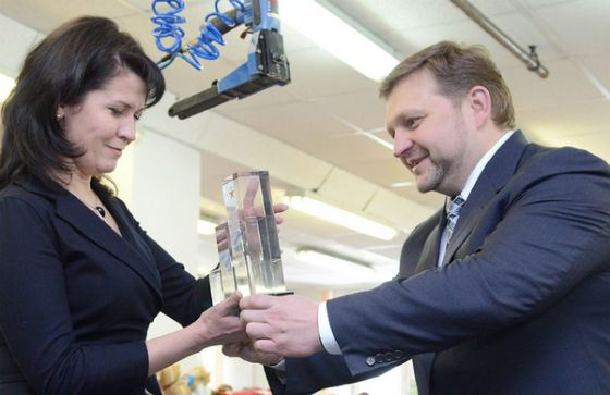 "Nikita Belykh awards the leadership of the Kirov toy factory ""Spring"""