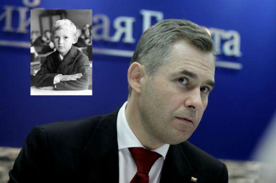 Павел Астахов в детстве и сейчас
