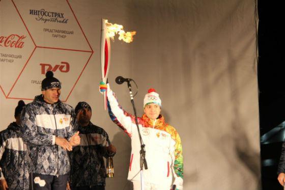 Олимипада-2014: Николай Никифоров был первым казанским факелоносцем