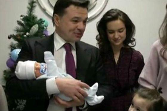 Андрей Воробьев и его сын Михаил