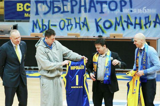 Андрей Воробьев на стадионе в Химках