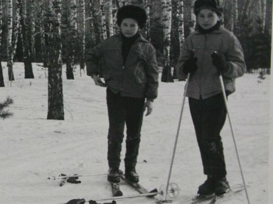 Schoolboy Rustem Khamitov (right) on a ski trip