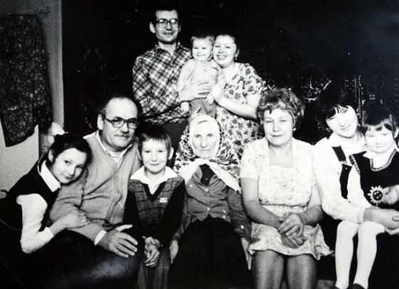 Friendly family of Rustem Khamitov (in the top row, with the spouse and child)