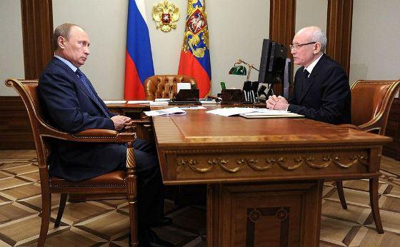 Rustem Khamitov meeting with Vladimir Putin