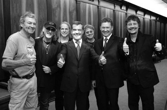 Встреча Дмитрия Медведева и его любимой группы Deep Purple