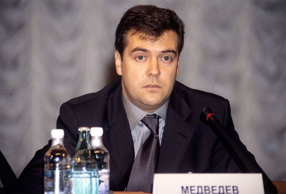 Dmitry Medvedev as a First Deputy Head of the Presidential Administration, in 2000