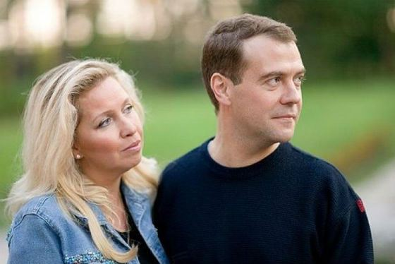 Dmitry Medvedev and his wife
