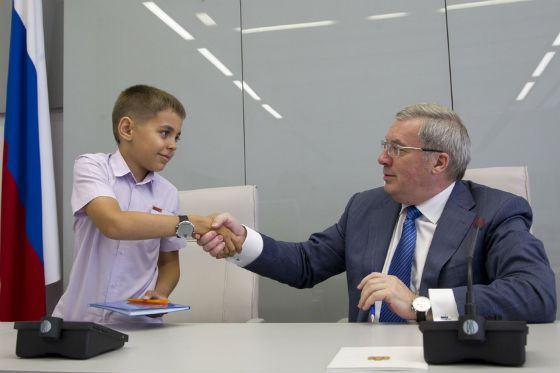 Губернатор Красноярского края на встрече со школьниками