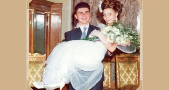 Свадебное фото Вадима и Натальи Потомских