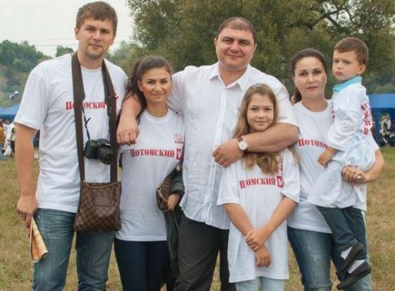 Семья Вадима Потомского: жена, дети и зять