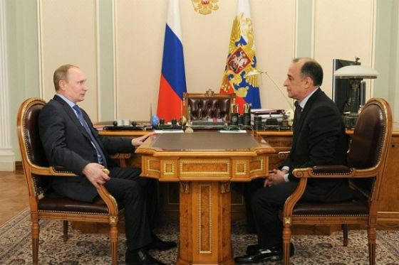 Working meeting of Vladimir Putin with Yuri Kokov