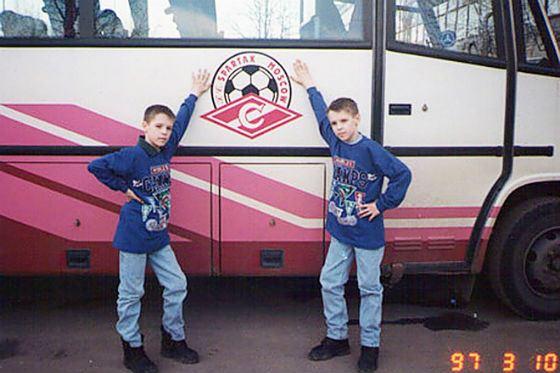 Brothers Kombarova in childhood ...