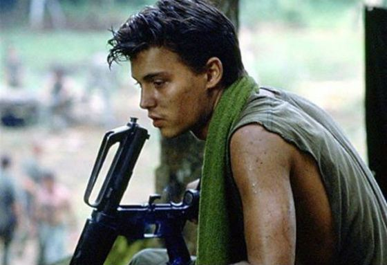 Johnny Depp in Platoon by Oliver Stone