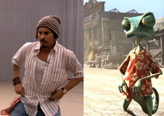Chameleon Rango was voiced by Johnny Depp