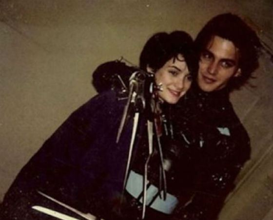 Young Depp and Winona Ryder