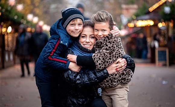 Барановская с сыном и дочерью