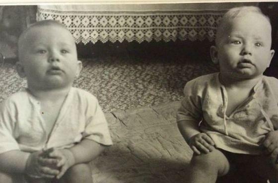 Baby photo brothers Berezutsky
