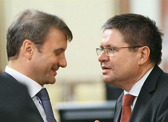 На фото: Герман Греф и Алексей Улюкаев