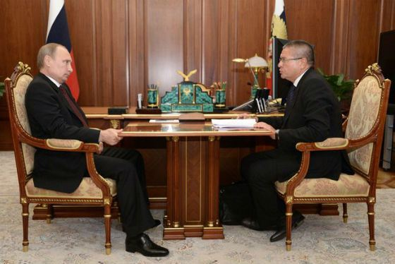 Рабочая встреча Владимира Путина с Алексеем Улюкаевым