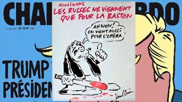 Charlie Hebdo высказался о российских футбольных фанатах