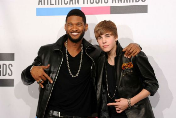 Justin Bieber at American Music Awards