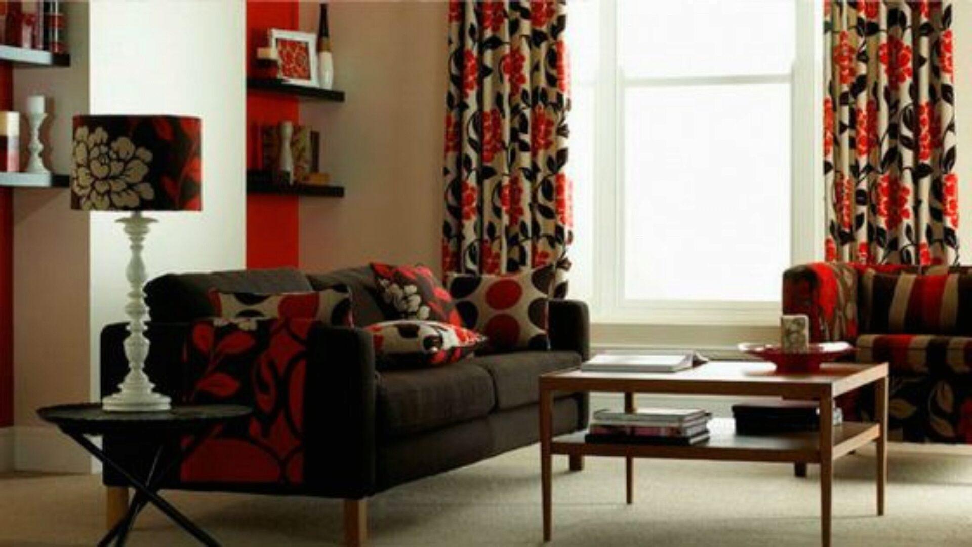 Весь текстиль гостиной должен сочетаться по цвету