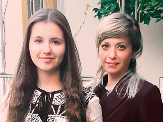 Юлия Салтовец с дочерью