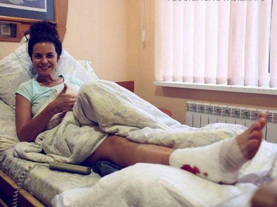 Настя Каменских в больнице