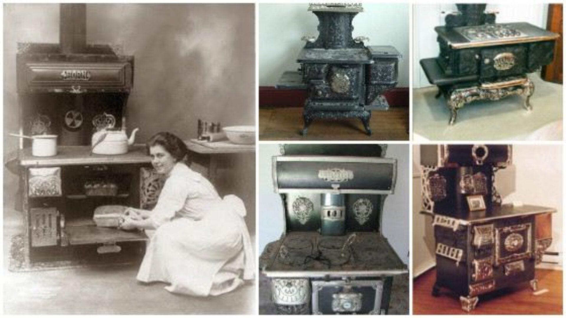 Старинные дровяные плиты