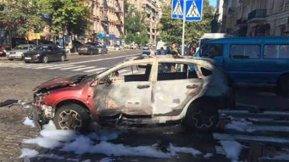 Автомобиль, в котором погиб Павел Шеремет