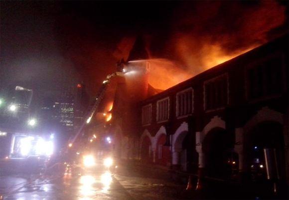 В Москве горит один из старейших пивоваренных заводов