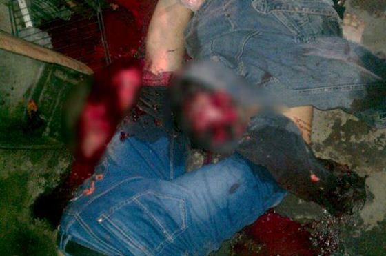 Фото сделанное на месте убийства байкера и его жены