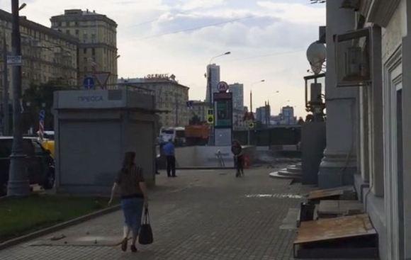 У метро «Войковская» в Москве произошел взрыв газа