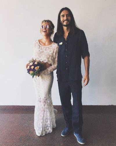 Olga Efremova with her fiance