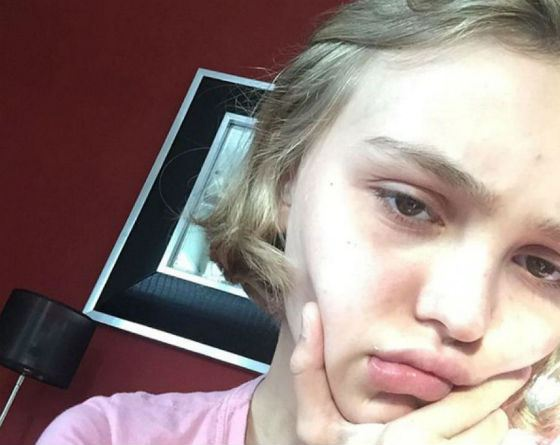 Lily-Rose Depp without makeup