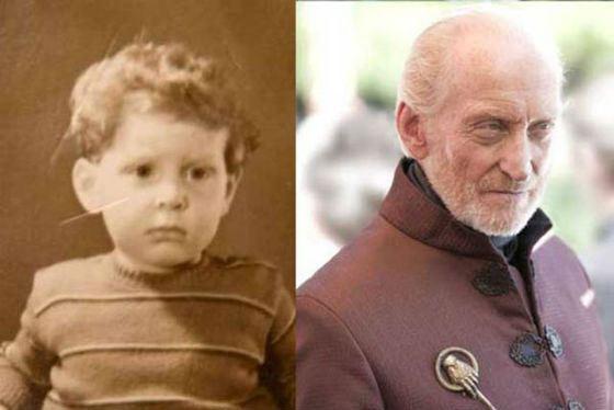 Чарльз Дэнс в детстве и сейчас