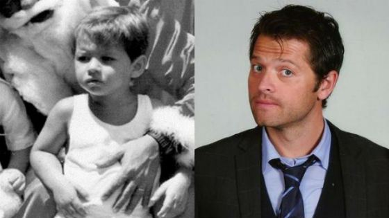 Misha Collins in childhood and now
