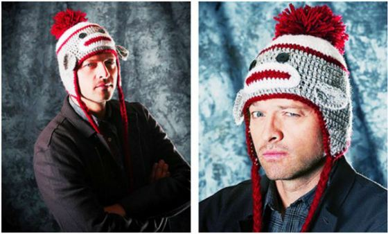 "Cute hat Misha Collins and his ""minions"""