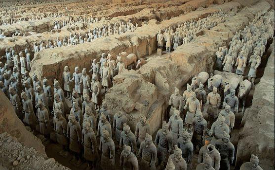 Знаменитая Терракотовая армия находилась в окрестностях Сиана