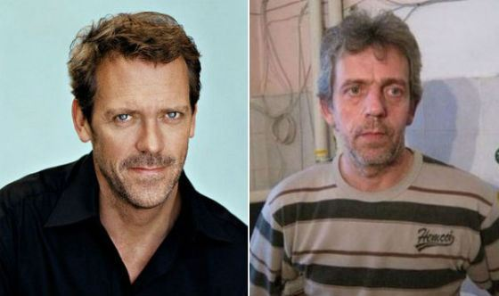 Hugh Laurie and his twin from Tyumen