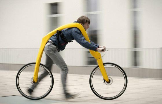 Велосипед без педалей позволяет почувствовать себя птицей