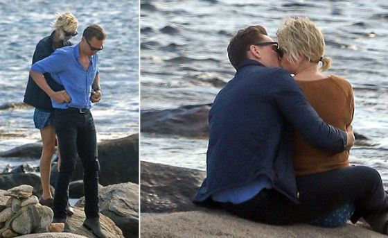 Paparazzi spotted Tom Hiddleston and Taylor Swift on the beach