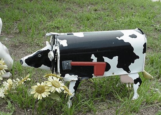 Милая пятнистая корова