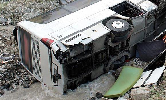 В Крыму упал в пропасть пассажирский автобус