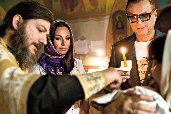 Крестные Даниила - Инна Жиркова и Андрей Ковалев