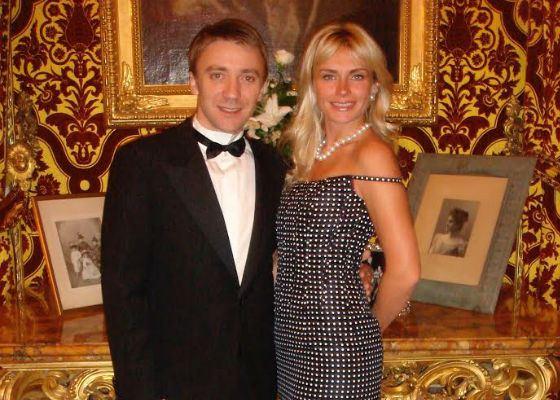 На фото: Екатерина Цветова с супругом