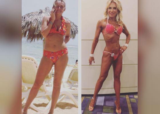 Катя Цветова в 32 и 42 года (фото из личного Instagram katia_tsvetova_)