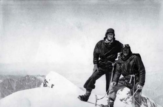 The first people on the top of Everest