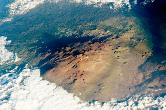 Mauna Kea, view from above