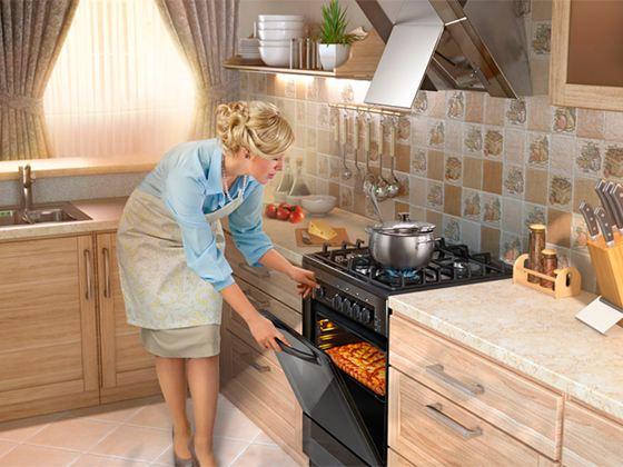 В настоящее время в РФ производится масса самых разнообразных кухонных плит